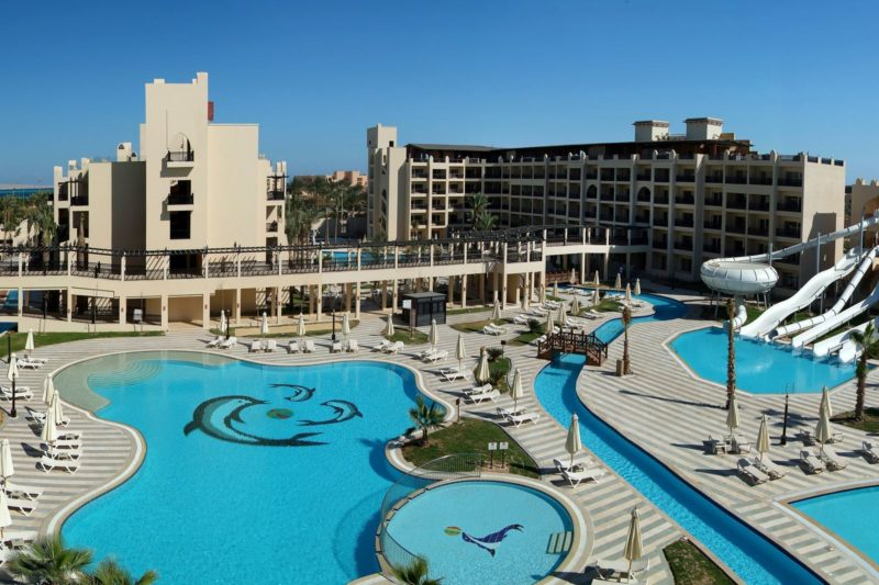 Zwembaden van Hotel aqua magic in Hurghada