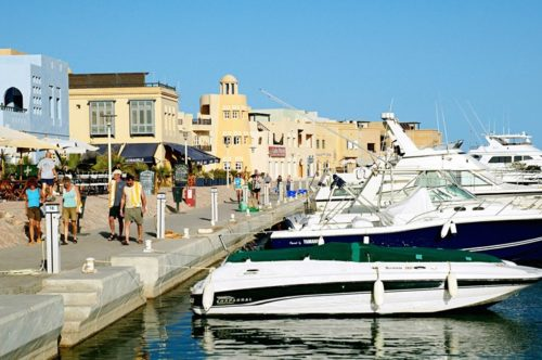 De haven van Hurghada